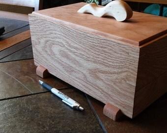 Red oak stash box