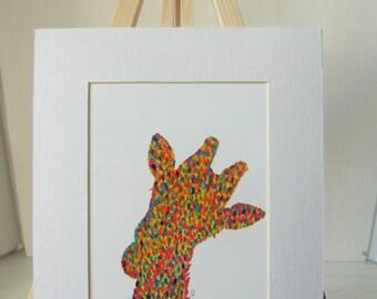 8x10 Matted Print Candy Giraffe