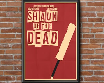 Shaun of the Dead Movie Poster, Simple, Minimalist, Edgar Wright, Simon Pegg, Nick Frost, Zombies