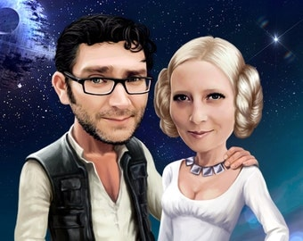 Star Wars Couples Portrait from your Photo