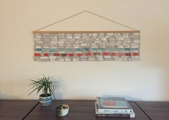 Modern wall art-handmade contemporary printed fabric wall hanging