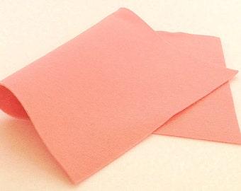 "8"" x 12"" French Peach 100% Merino Wool Felt Sheet"