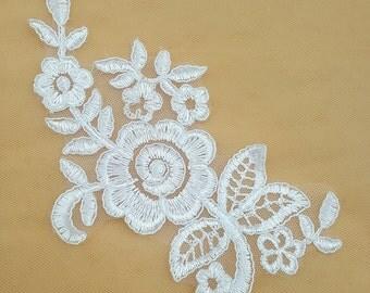 3 pcs Lace Appliques ,Wedding Applique, Lace Appliques, Embroidered Appliques