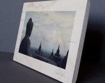 Photo print on wood / Borobudur, Indonesia (B)