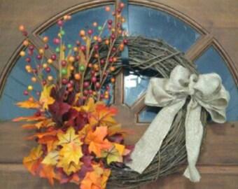 "14"" Fall Wreath"