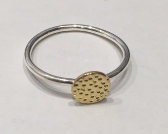 Hammer Disc Ring - Gold