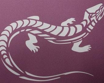 Lizard 02 Stencil