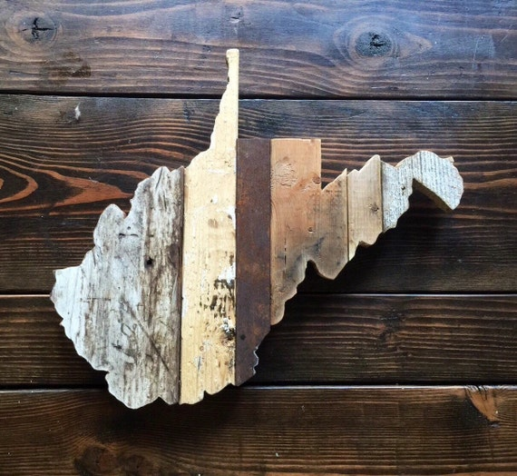 Like this item? - West Virginia Reclaimed Wood State Outline Wall Art Large