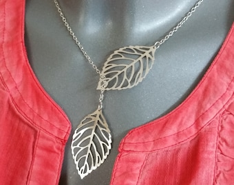 "Links necklace ""Romantics"" with leaves silver CK100"