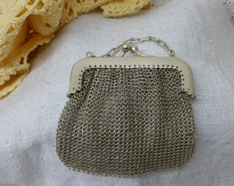 Old antique purse Silver Pocket bag