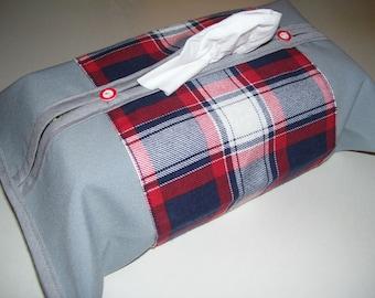TISSU BOX COVERS - checkered tissue box covers - checkered kleenex box - checkered home decor - checkered covers - checkered decor