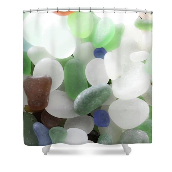 Sea Glass Shower Curtainseaglass Shower Curtainsbathroom