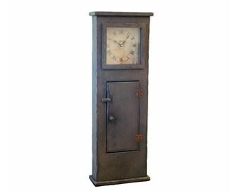Primitive Regulator Style Wood Wall Clock