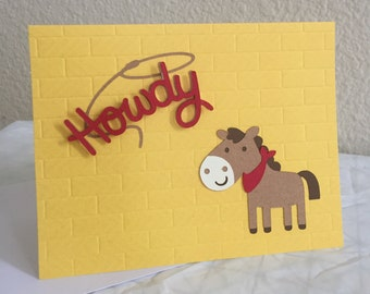 Horse Card for anyone • Howdy • Just Because