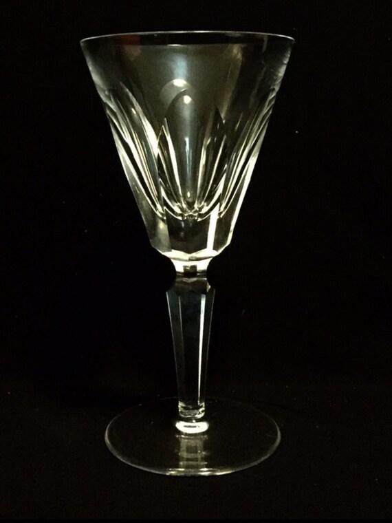 "FREE SHIPPING-Elegant-Waterford-Cut Crystal-Sheila-Cut Panels-Stemmed-6 1/4""-White Wine Glass-Old Hallmark"