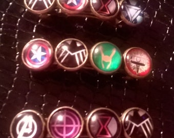 Marvel inspired hair clip .