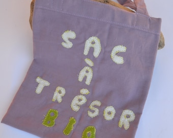Tote bag/bag in organic cotton for baby and toddler