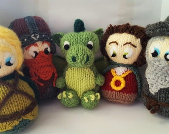 Lord of the Rings Mini Collection style Hand Knitted Plush Toy, unofficial product inspired by Lord of the Rings *FREE UK SHIPPING*