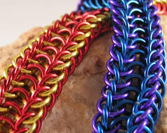 Chainmail Twin half persian bracelet.