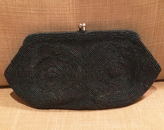Vintage Dormar Clutch, Dormar Vintage Beaded Clutch, Vintage Seed Bead Handbag, Vintage Purse, Beaded  Purse
