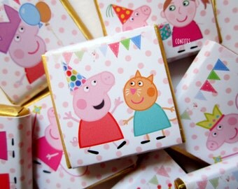 Personalised Chocolate PEPPA PIG party favour birthday favour party favour Candy Bar Kids children