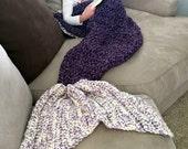 Mermaid Tail Blanket, Mermaid Blanket, Tail Blanket, Crochet Mermaid, Purple Mermaid Blanket, Mermaid Blanket Child, Adult Mermaid Blanket