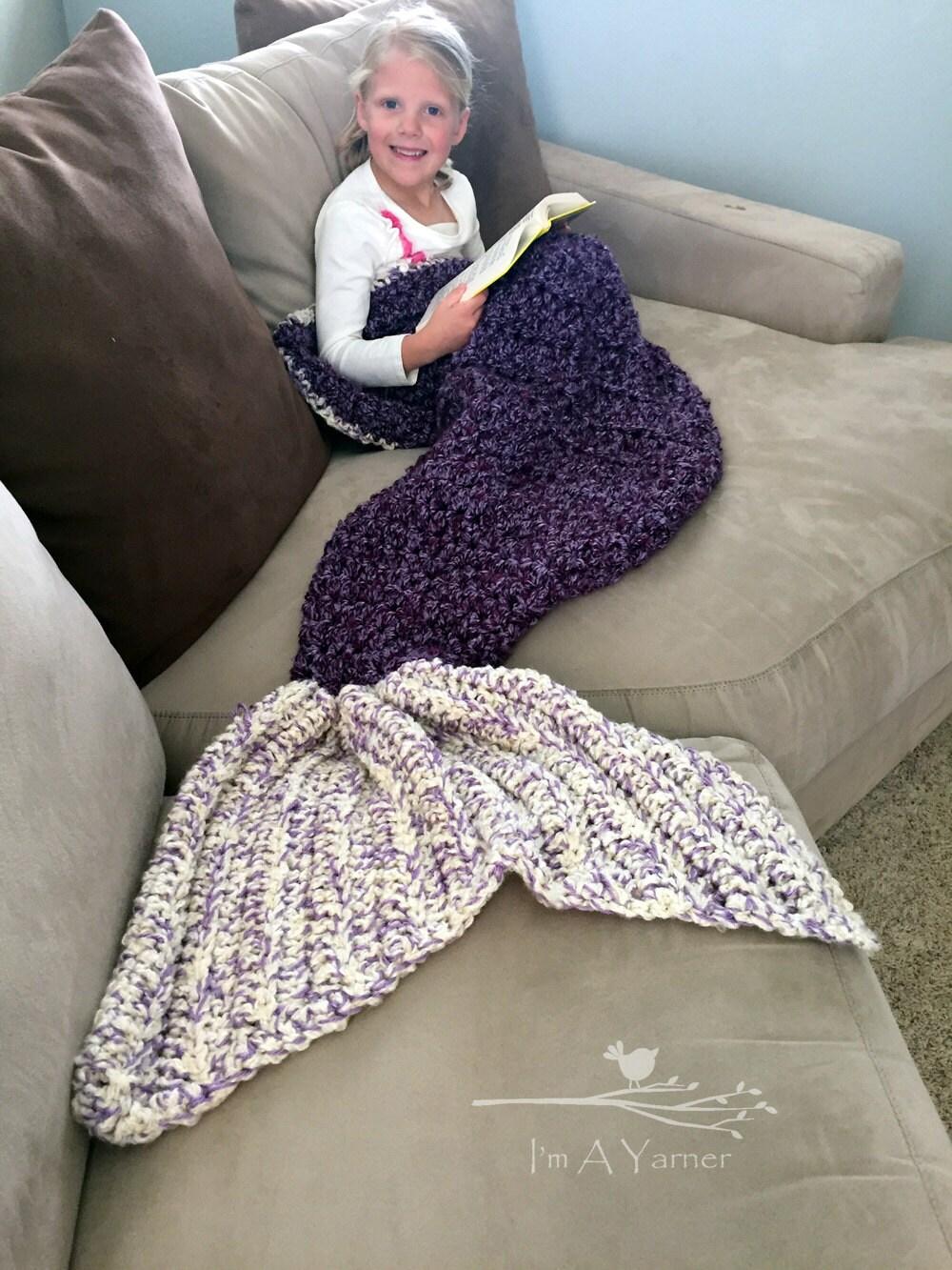 Mermaid Tail Blanket Mermaid Blanket Adult Crochet Mermaid