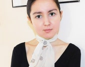 Printed Long Neck Scarf (Hand Sewn) / Leopard Printed Scarf
