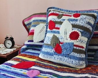 Knitted Bedspread, Patchwork Knit Blanket, Knit Blanket, Handmade Quilts, Bedding Set, Patchwork Quilt, Quilt Handmade Patchwork