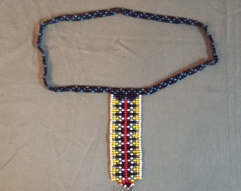 Chickasaw handmade bead necklace