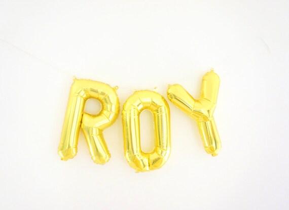 Custom name letter balloons mylar balloons letter by paperyuu for Letter balloons denver