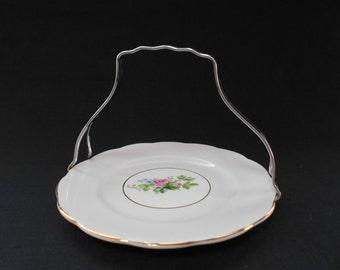 Vintage Royal Albert Pink Tea Plate and Holder 1950's  #00030
