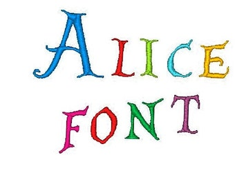 Alice in Wonderland Font  1,2,3 Inches, Instant Download