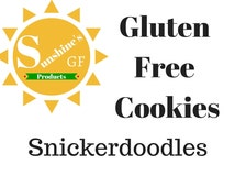 Sunshine's Snickerdoodle Cookies-Gluten Free Mix-Homemade Baked Goods-Holiday Desserts-Gluten Free Foods-Celiac Disease-Gluten Free Diet