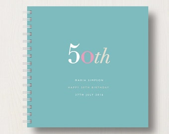 Personalised 50th Birthday Memories Book or Album