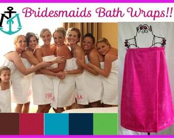 BRIDESMAIDS GIFT, Bridesmaids Bath Wraps, Monogrammed Bath Wrap, Personalized Bath Wraps, Bridesmaids Towel Wraps, Towel Wraps, Bath Wraps