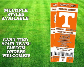 Tennessee Volunteers Invitation
