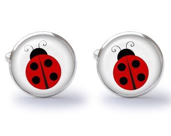 Ladybug Cufflinks - Lady Bugs Cufflinks - Ladybug Cuff Links (Pair) Lifetime Guarantee