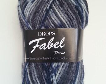 Drops Yarn Fabel - Chiaroscuro #913