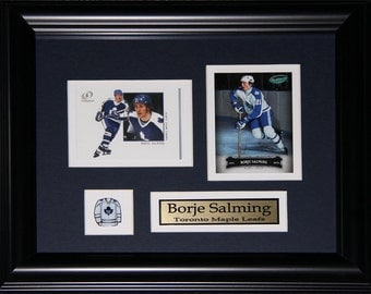 Borje Salming Toronto Maple Leafs 2 card frame