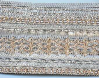 COPPER Jacquard Weaved Traditional Sari Border Trim Indian Craft Ribbon Sewing Wide Trim Saree