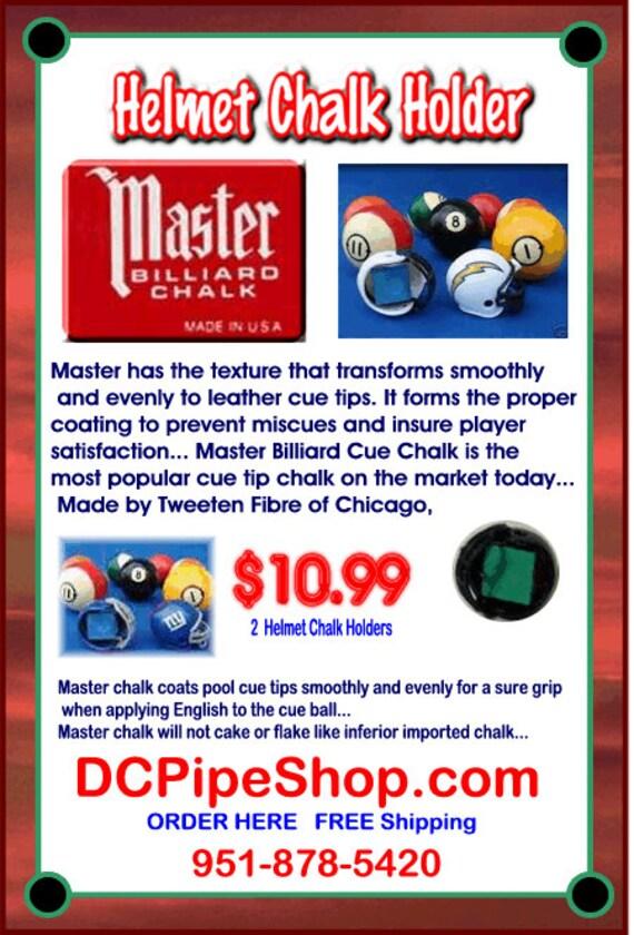 A Billiards NFL Helmet Master Chalk Holder (Lot Of 2) Select Team Helmet