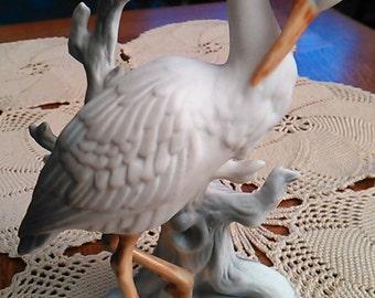 Porcelain Bird Figurine (Stork or Heron)