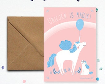 "Map ""Unicorn"" - kraft envelope"