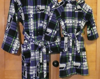 Childs Hooded  Seahawk Robe