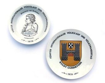 Set of 1970s Commemorative German Volkswandertag Plates