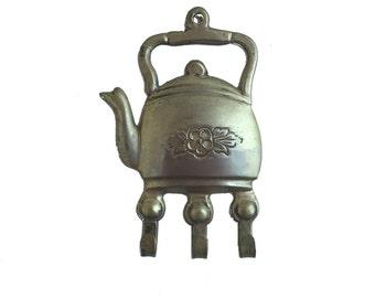 Vintage 3 Hook Tea Pot Wall Hook **FREE SHIPPING**
