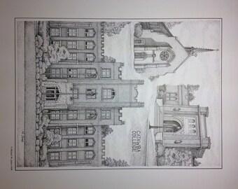 Catawba College 11x14 collage print