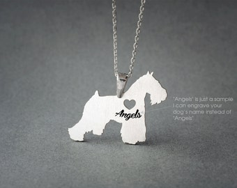 SCHNAUZER NAME Necklace - SCHNAUZER Necklace - Personalised Necklace - Dog breed Necklace - Dog Necklace
