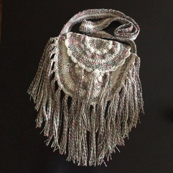 Crochet Fringe Bag : bag.Fringe bag.Crochet handbag.Handmade Purse.Boho bag.Hippie bag ...